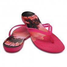 Crocs Dámské žabky Crocs Isabella Graphic Flip Candy Pink/Tropical 204196-6JS 41-42