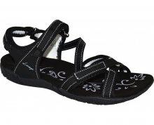 LOAP Dámské sandály Caffa Black/Bl de Blanc černo-bílé SSL1758-V11A 36