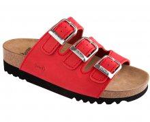 Scholl Dámské pantofle Rio Wedge AD Adapta Red F264541051 39