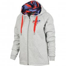 Puma FUN Hooded Sweat Jkt Fl W šedá M