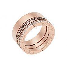 Michael Kors Pozlacený ocelový prsten s krystaly MKJ5838791 59 mm