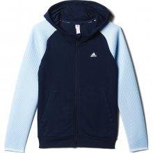 adidas Sportswear Mesh Fz Hood modrá 152