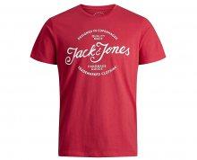 Jack&Jones Pánské tričko Jornewraffa Tee SS Crew Neck Noos Scarlet S