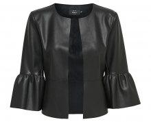 ONLY Dámské sako Dance Frill Faux Leather Jacket Otw Black 36