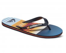 Quiksilver Pánské žabky Molokai Everyday Stripe Blue/Blue/Orange AQYL100234-XBBN 45
