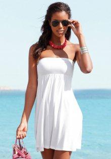 LASCANA Plážové šaty Lascana bílá 34