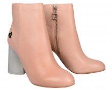 Fornarina Dámské kotníkové boty Vic - Pink Kid Leather Wo`s Ankle Boot PI18VI1035C066 38