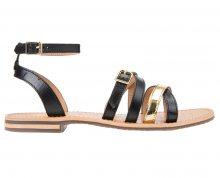 GEOX Dámské sandále Sozy B Black/Gold D822CB-043BN-C0495 37