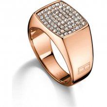 Tommy Hilfiger Bronzový prsten s krystaly TH2700734 58 mm