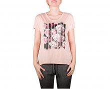 Converse Dámské triko Blocked Floral Type Femme Tee Dusk Pink L