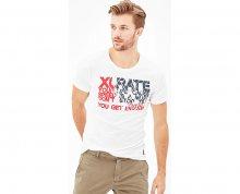 s.Oliver Pánské bílé tričko M