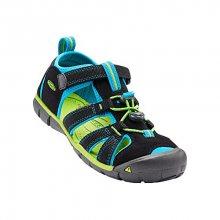 KEEN Dětské sandály Seacamp II CNX Black/Blue Danube KIDS 31