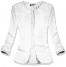 Bílé sako s puntíky