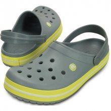Crocs Pantofle Crocband Concrete/Chartreuse 11016-0z4 43-44