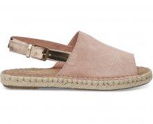 TOMS Dámské sandále Bloom Suede/Rose Gold Specchio Clara 36
