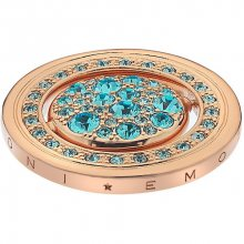 Hot Diamonds Přívěsek Hot Diamonds Emozioni Autunno e Inverno Rose Gold Coin EC249-255 25 mm