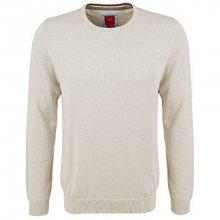 s.Oliver Pánský béžový svetr z jemné pleteniny s kulatým výstřihem XL