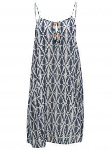 Bílo-modré vzorované šaty Rip Curl