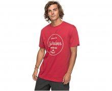 Quiksilver Pánské triko Ss Classic Morning Slides Chili Pepper EQYZT04774-RRD0 M