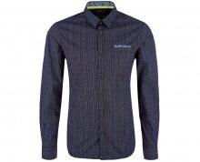 s.Oliver Pánská košile 13.802.21.3191.59A9 Blue Ink L