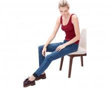 s.Oliver Dámské modré strečové kalhoty Shape Superskinny 34 34