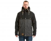 Meatfly Pánská bunda Dandy Jacket MNS Parka A - Black/Charcoal Heather M