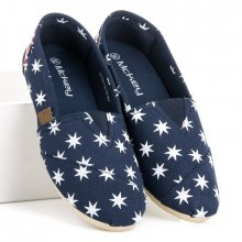 Parádní modré nazouvací espadrilky s hvězdičkami