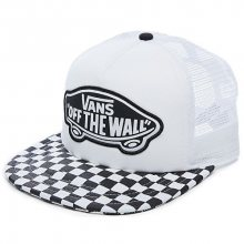 VANS Dámská kšiltovka Beach Girl Trucker Hat Black/White Checkerboard VOOH5L56M
