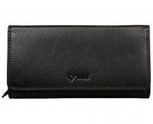 LYLEE Elegantní dámská kožená peněženka Ellie Black