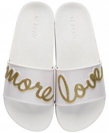 Zaxy bílé pantofle Snap Slide Fem White