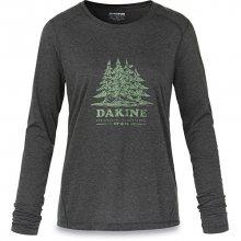Dakine Dámské triko Women`s Pine Island L/S Tech T Heather Black 10001522-W18 S