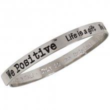 We Positive Kovový náramek FR001 Silver