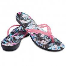 Crocs Dámské žabky Crocs Isabella Graphic Flip Paradise Pink/Tropical Floral 204196-6NT 36-37