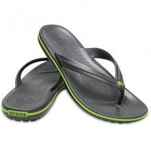 Crocs Žabky Crocband Flip Graphite/Volt Green 11033-0A1 37-38