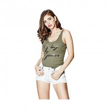 Guess Dámské tílko G by GUESS Amma Logo Tank Green S