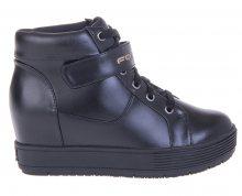 Fornarina Dámské kotníkové boty Meti - Black Action Leather/Nappa Pu Wo`s Ankle Boot PI18MJ1069V000 36