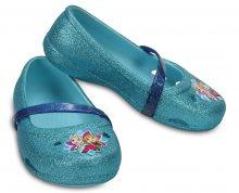 Crocs Dětské baleríny Crocs Lina Frozen Flat Ice Blue 204454-4O9 23-24