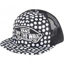 VANS Dámská černo-bílá kšiltovka s puntíky Beach Girl Trucker Hat V00H5LM9A