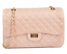 Carla Ferreri Elegantní kožená kabelka 2063 Rosa - SLEVA