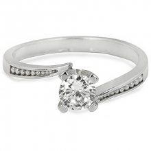 Troli Stříbrný zásnubní prsten s čirým krystalem 426 001 00500 04 50 mm