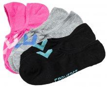 Converse Balení 3ks ponožek Skarpety CONVERSE Women 3-pak Pink pow/white LGH/pioneer Black/lt aqua
