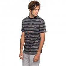 Quiksilver Pánské triko Ss Allover Print Mad Wax Black Mad Max Stripes EQYKT03690-KVJ6 S