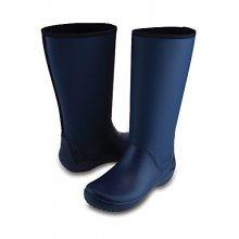 Crocs Dámské modré holínky RainFloe Tall Boot Navy 203416-410 36-37