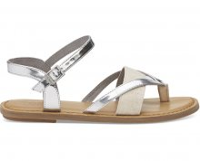 TOMS Dámské sandále Silver Specchio/Hemp Lexie 36