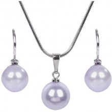 Troli Sada náhrdelníku a náušnic Pearl Lavender