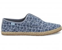TOMS Dámské modré Slip-On Navy Ditsy Floral Palmera Slip-on 37