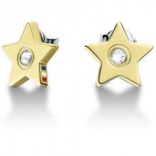 Tommy Hilfiger Zlaté náušnice Hvězdičky s krystalem TH2700844
