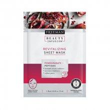 Freeman Revitalizační látková maska Granátové jablko Beauty Infusion (Revitalizing Sheet Mask) 25 ml