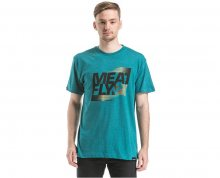 Meatfly Triko Flux T-shirt D - Heather Jade S