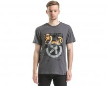 Meatfly Triko Pulse T-shirt E - Heather Charcoal L